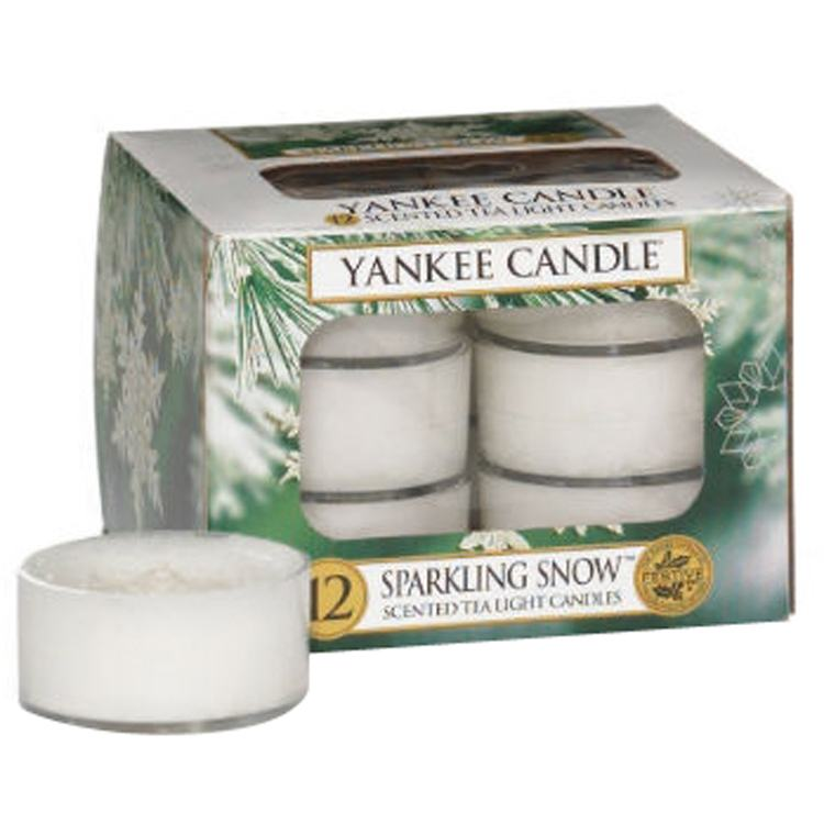 Yankee Candle Sparkling Snow Pack Of 12 Tealights