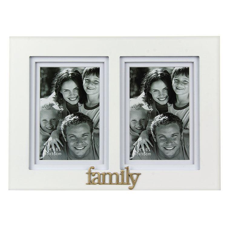Gallery White Family Double Photo Frame