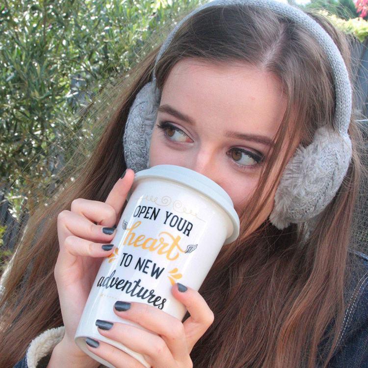 Aroma Home Grey Travel Mug and Earmuffs Set