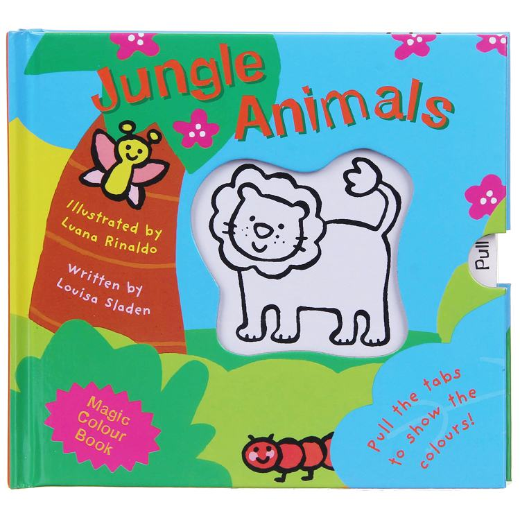 Magic Colour Book Jungle Animals Childrens Board Book