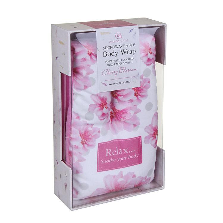 Aroma Home Cherry Blossom Fragranced Microwavable Body Wrap