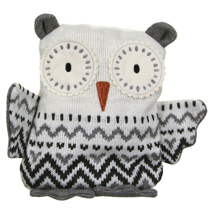 Aroma Home Knitted Snowy Owl Hottie