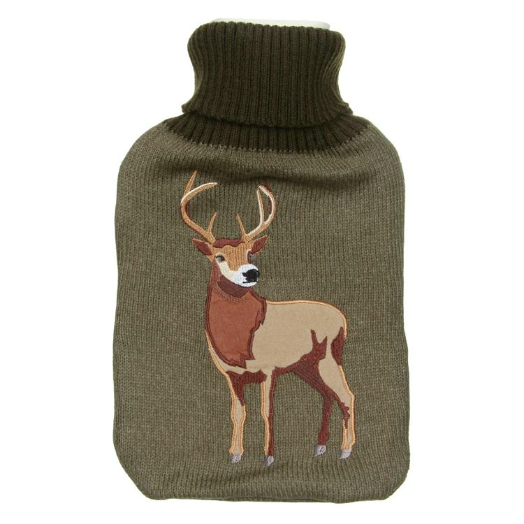Aroma Home Knitted Stag Hottie with Hot Water Bottle