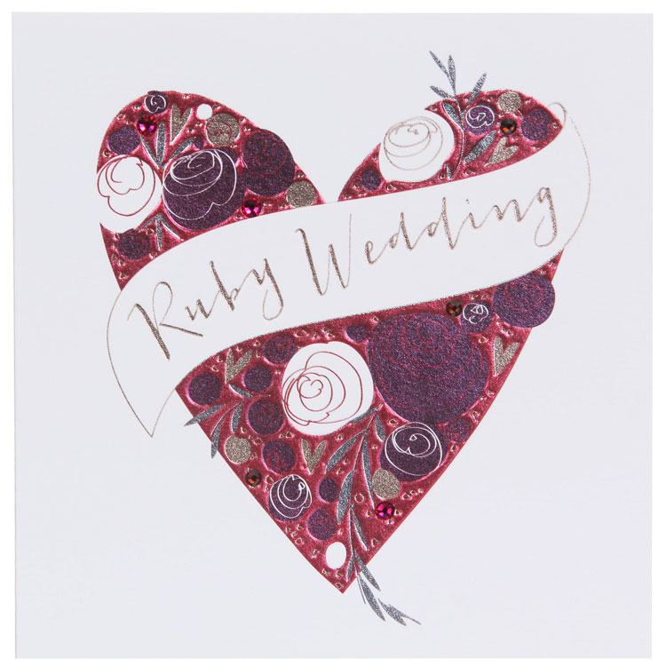 Belly Button Paloma Ruby Anniversary Card
