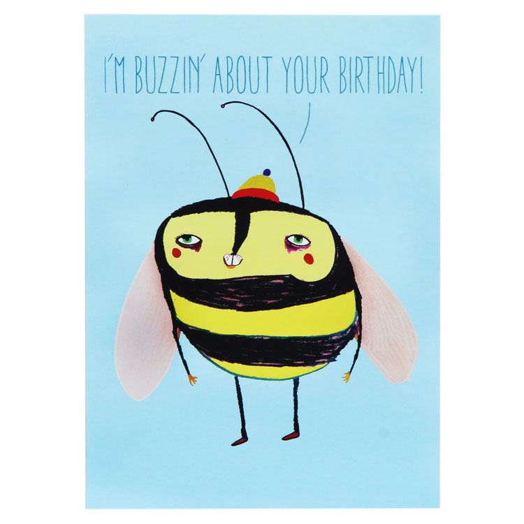 Wild Style Buzzin About Your Birthday Card