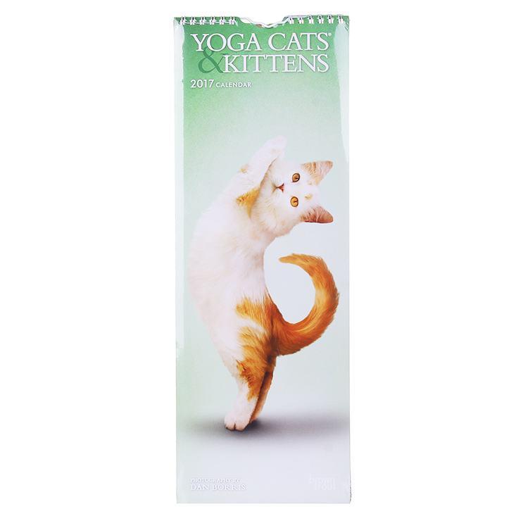 Yoga Cats & Kittens 2017 Slim Calendar