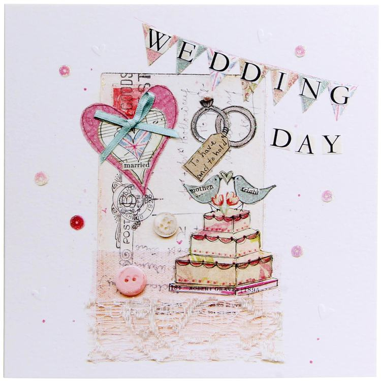 cool britannia wedding day rings card