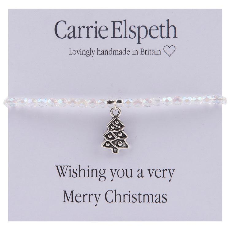 carrie elspeth wishing you a very merry christmas sentiments bracelet