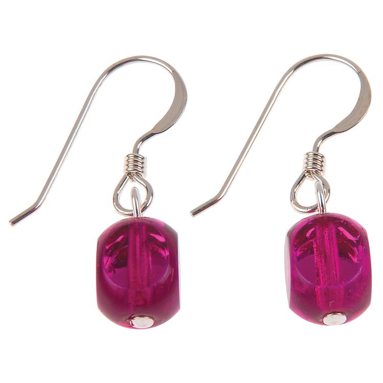 carrie elspeth pink berry celebration earrings
