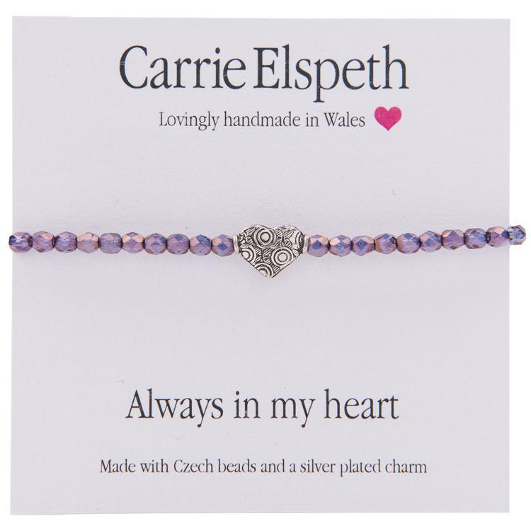 carrie elspeth always in my heart sentiment bracelet