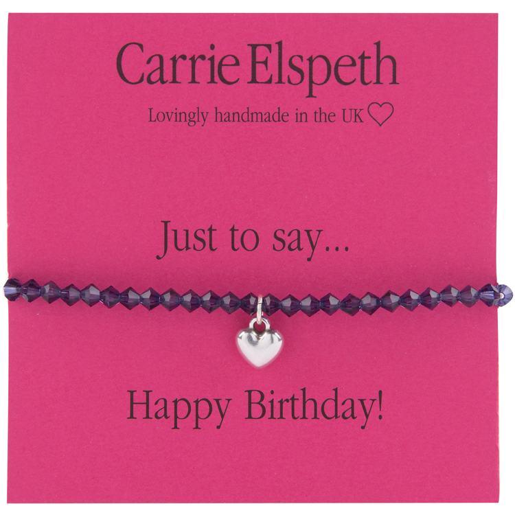 carrie elspeth happy birthday heart charm sentiment bracelet