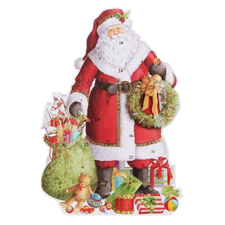 3D Standing Santa Clause Advent Calendar