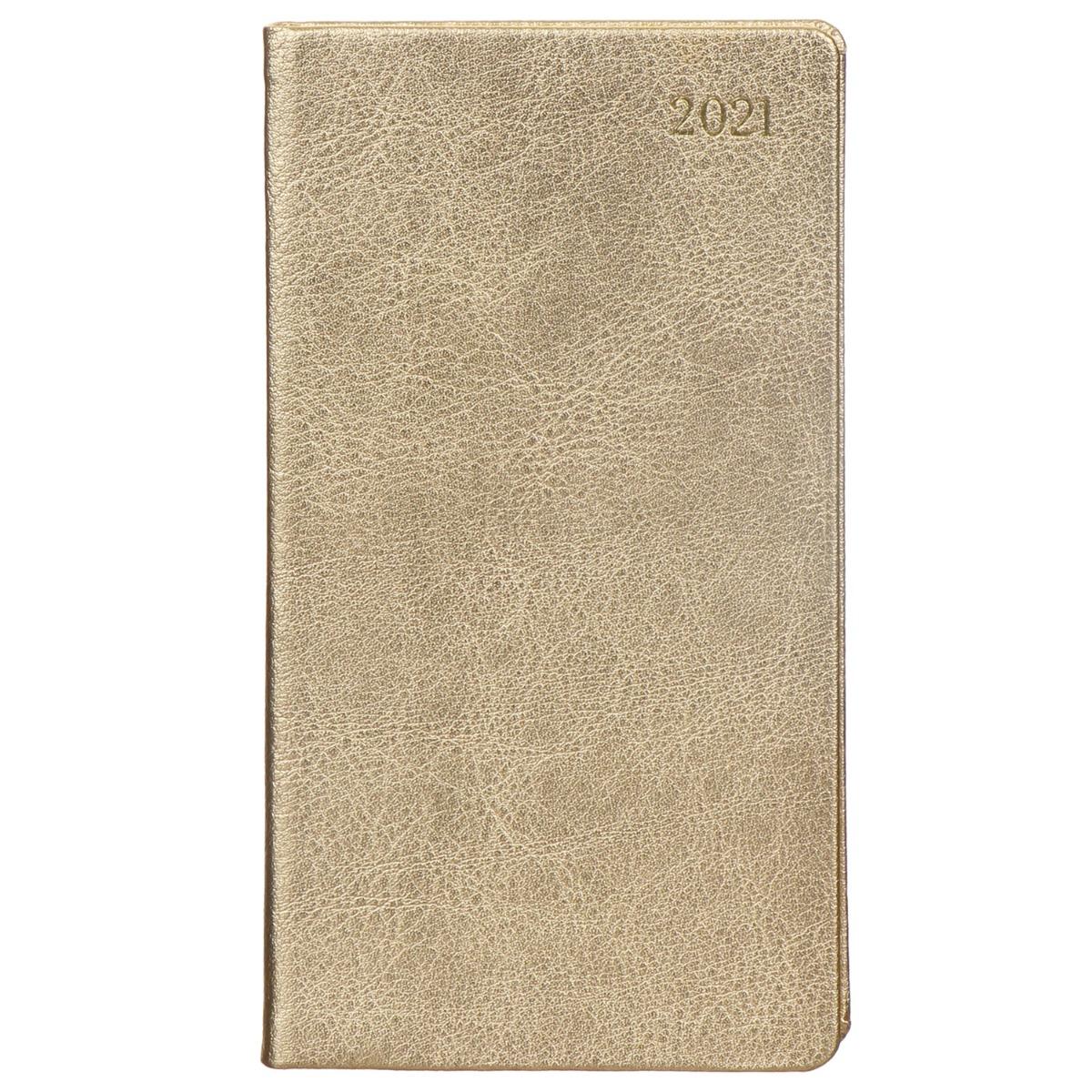 Caspari Gold Leather 2021 Slim Diary