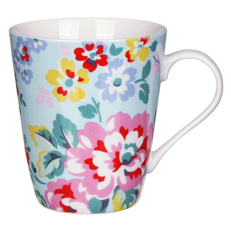 Cath Kidston Large Spray Flowers Pale Blue Stanley Mug