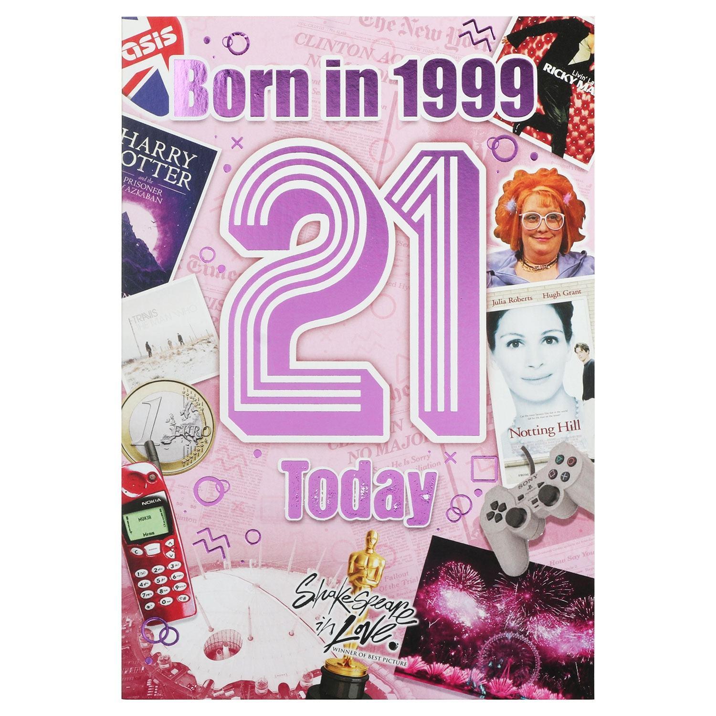Down Memory Lane Pink '21 Today' Card