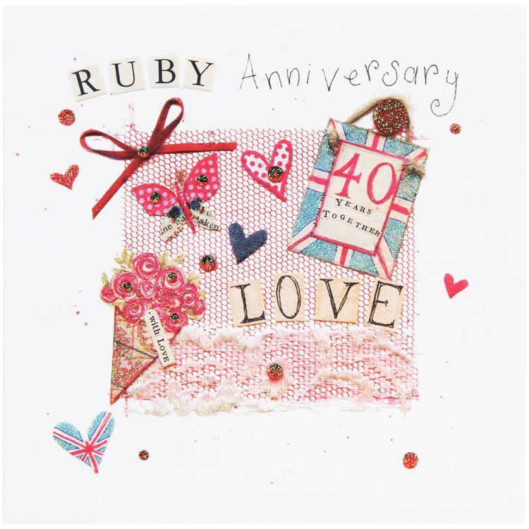 ruby anniversary, cool britannia card from mint