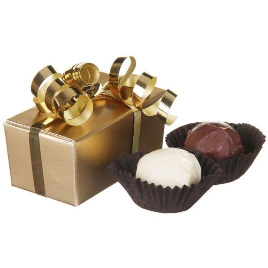 2 Belgian Chocolate Truffles in a Box