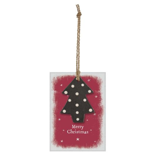 'Merry Christmas' Tree Gift Tag