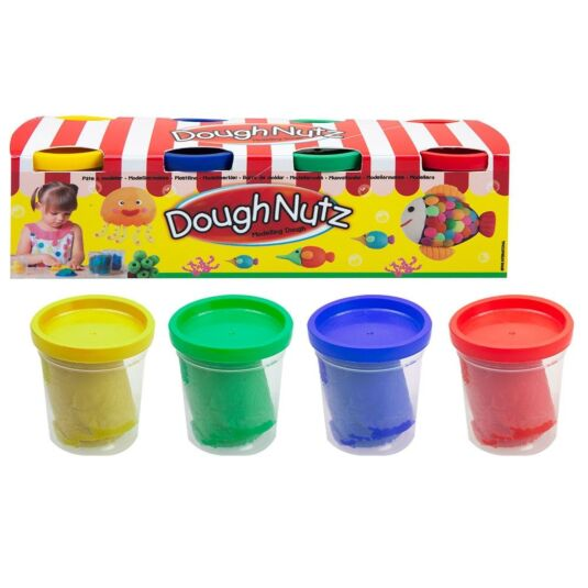 Dough Nutz Modelling Dough Tubs – Pack of 4