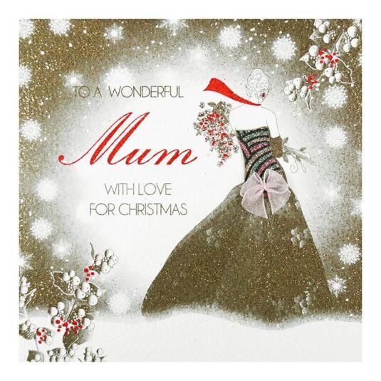 Five Dollar Shake Vintage Chic \'Wonderful Mother\' Christmas Card ...