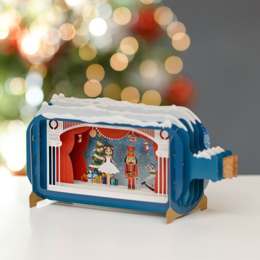 Toy Soldier Message in a Bottle Christmas Card