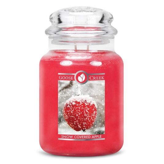 Snow Covered Apple Large Jar Candle