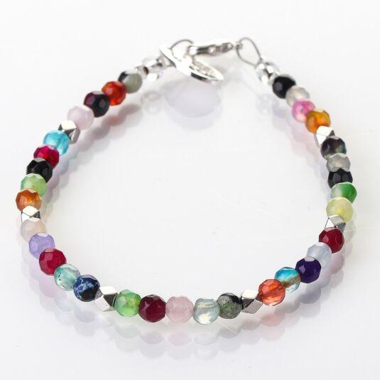 Rainbow Medley Agate Bracelet