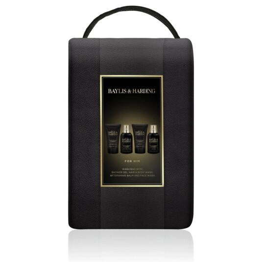 Men's Black Pepper & Ginseng Wash Bag Gift Set