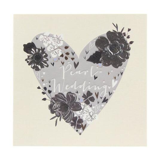 Paloma Pearl Wedding Anniversary Heart Card