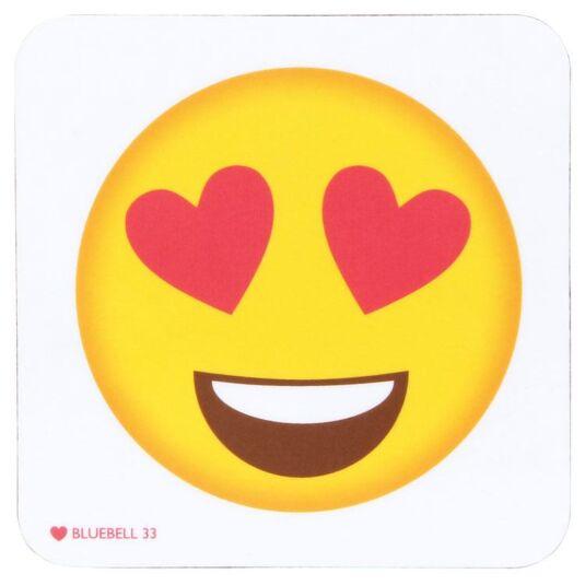 Heart Eyes Character Icon Coaster