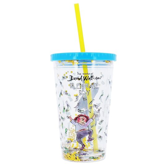 'Billionaire Boy' Beaker with Straw