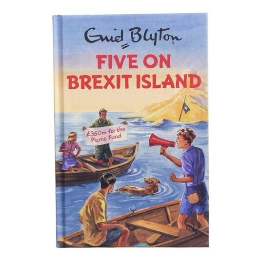 Enid Blyton: Five On Brexit Island Hardback Book
