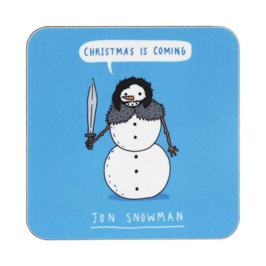 Jon Snowman Christmas Coaster