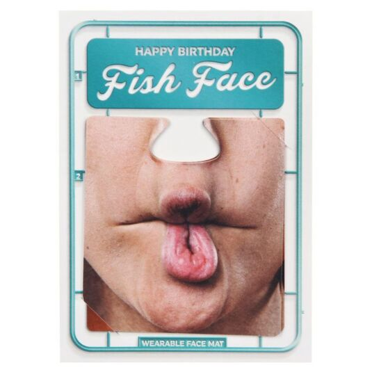 Fish Face Face Mat Card
