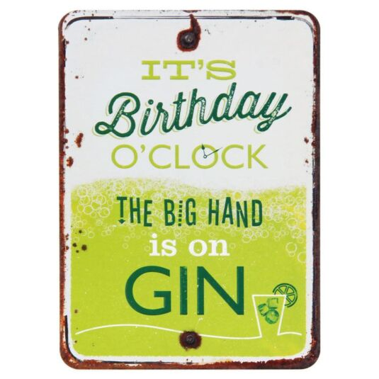 Grin and Tonic Birthday O'Clock Gin Card