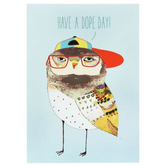 Wild Style Dope Day Birthday Card