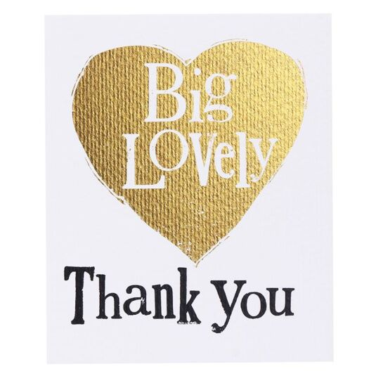 Big Lovely Thank You Set of 8 Cards