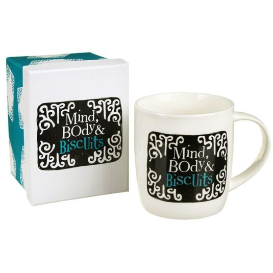 Mind Body And Biscuits Mug
