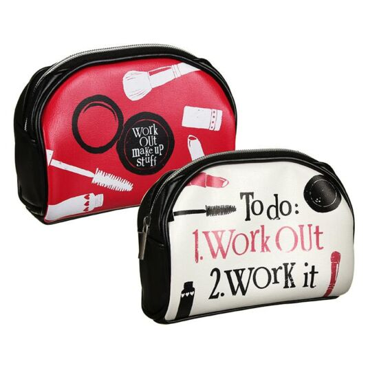 To Do Work Out Cosmetic Bag