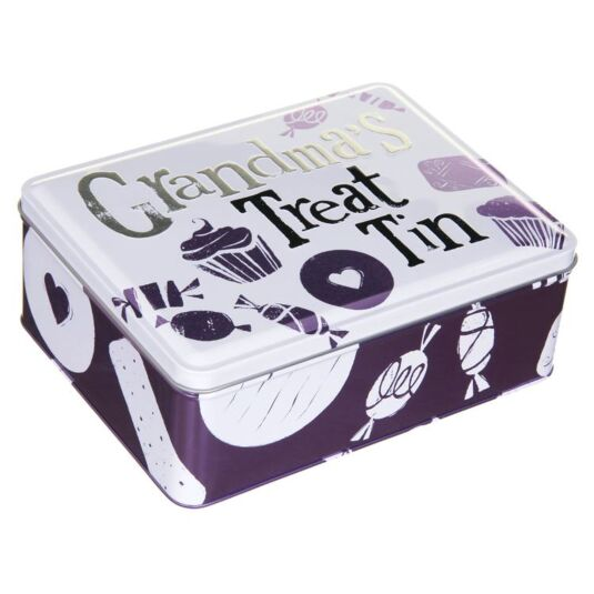 Grandma's Purple Treat Tin
