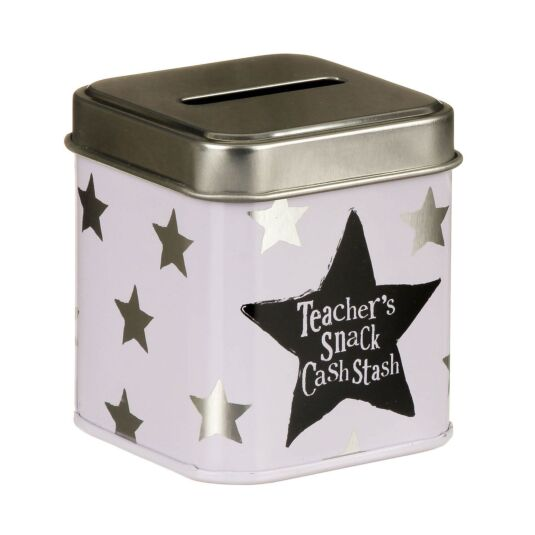Teachers Snack Cash Stash Tin