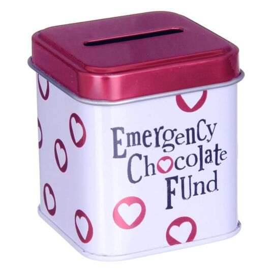 Emergency Chocolate Fund Cash Stash Tin