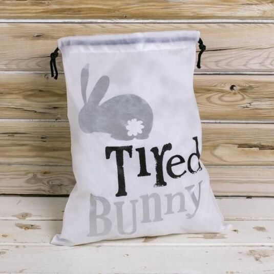 'Tired Bunny' Drawstring Pyjama Bag