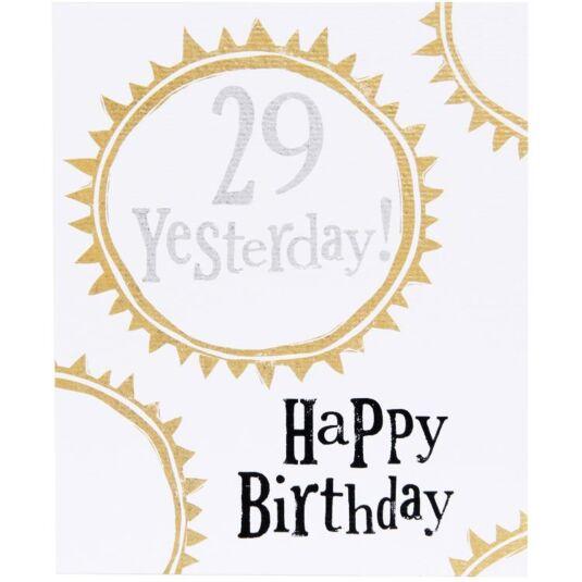 29 Yesterday Birthday Card