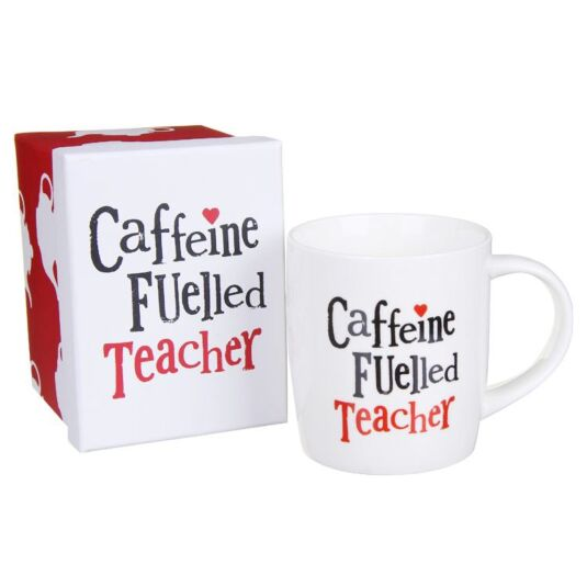 Caffeine Fuelled Teacher Boxed Mug
