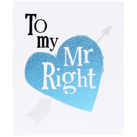 Mr Right Card