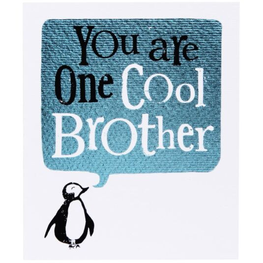 One Cool Brother Card