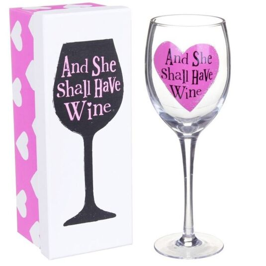 And She Shall Have Wine Glass