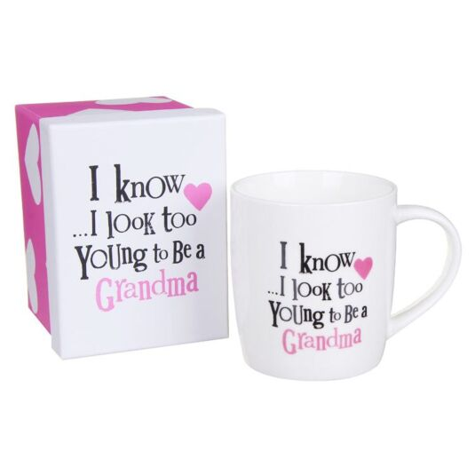 Too Young To Be a Grandma Boxed Mug