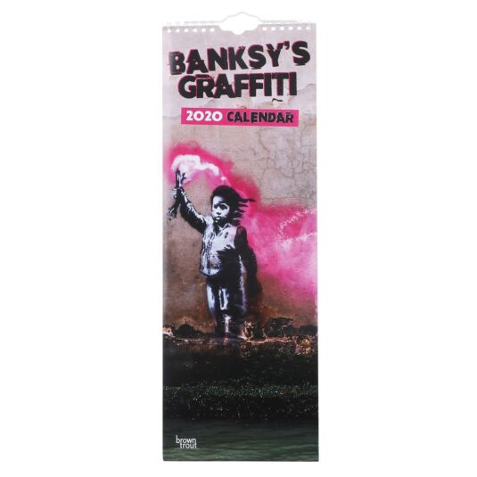 Banksy Graffiti 2020 Slim Calendar